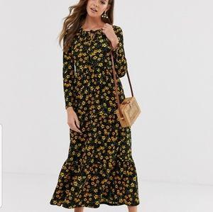 Free people tiers of joy midi floral dress Prairie